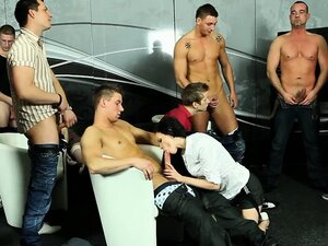 Bi group orgy rimjob blowjob