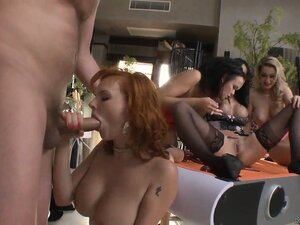 Hardcore orgy with Ian Scott, Rocco Siffredi, Tara White, Abbie Cat, Antonya and Linet Slag