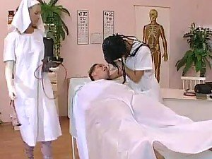 Two horny nurses are fucking with their patient