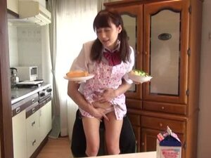 Cute Teen Gets Fucked Up Her Skirt While Doing Housework