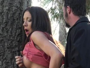 Amy Brooke being fucked in her pussy in the forest