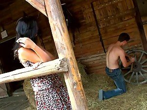 City Girl Gets Slammed By Young Farmer