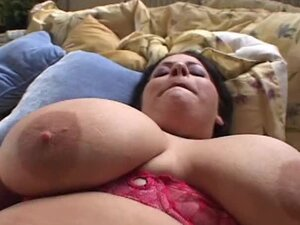Chubby Brunette with Huge Knockers Devyn Devine Titty Fuck and Rides in POV