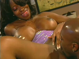 Busty and sexy black babe Vanessa is fucked by her hot lover. Great video