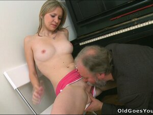 Maya stripped to give him better access, she wanted his old cock