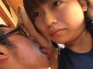 Japanese brunette gets tortured with hands tied to chair