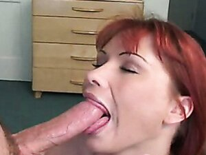 Sexy Katja Kassin fills her mouth with a man meat sausage