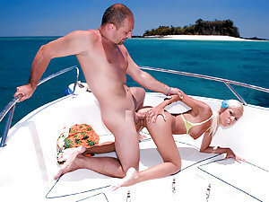 Sexabulous bitch Boroka Balls is seen in this hardcore flick getting her filthy cunt fucked ball deep in doggy style while having cruise on yacht! Is there anything memorable than that?! May be there is for you, you frigid ass!!! For but cock fiend Boroka