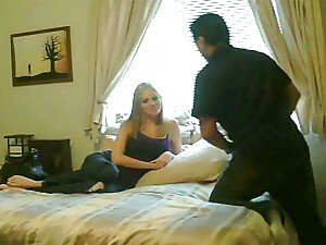 Horny blonde slut got taped cheating