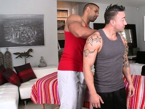 Tattooed bohunk prepares to be caressed and sodomized by perverted masseur