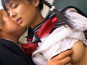 Naughty Asian schoolgirl is really playing hard after school