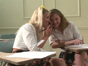 Horny college babes seducing their teacher