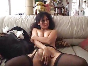 Hammering hairy milf pussy of French maid