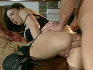 Anal whore Maria Bellucci sucks on a hard prick before getting her ass pulverized