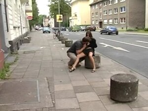 German Teen fucks in the public