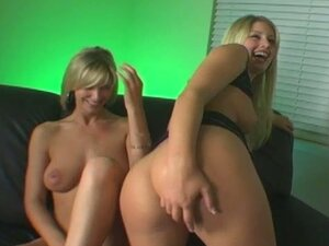 Hot blonde hardcore threesome fuck