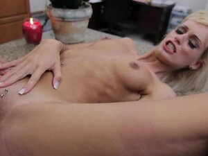 Skinny blonde Erica Fontes being fucked by a giant cock