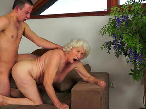 Chubby granny Norma is being licked out on camera