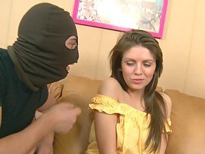 Beautiful Blonde Fucked By Two Masked Thieves and Their Big Dicks