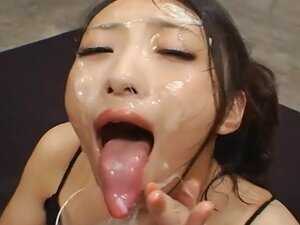 Long Tongue Japanese Bukkake