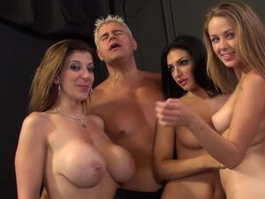 Sensual babes in nasty orgy