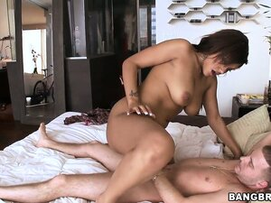 After this guy has taken Catalina Taylor to bed he stretches her pussy with some hard fucking