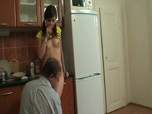 Slutty teen babe seduces this older couple