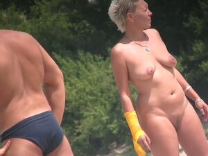 Sexy milf blonde hidden beach voyeur video