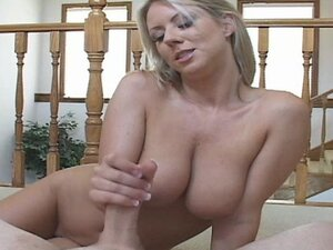 Hot Busty Blondie Handjob POV