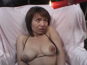 Horny japanese slut handcuffed and tortured for fun