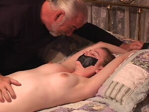 babe gets her mouth taped and hands bound