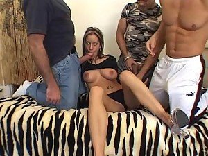 Insanely Hot Anal Brunette Pamela French Gets Fucked In a Threesome