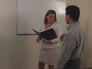 Busty blonde spanked hard in the office