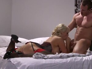 Stormy Daniels is a first-class blonde milf that crushes men's mind with her exciting big boobs, sexy huge ass and beautiful lingerie! This hot man enjoys experienced blonde hottie!