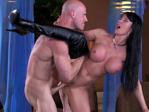 Big-titted babe Eva Karera being impaled by Johnny Sins