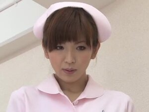 Mai Hanano is a Smokin' Hot Nurse Giving a Gentle Tug