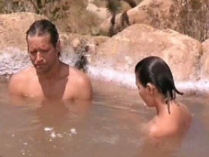 Elizabeth Pena Having Sex In a Natural Jacuzzi