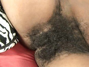 Hot bitch getting her hairy beaver bashed with cock
