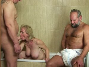 Slutty Monik gets fucked by an old and fat guys