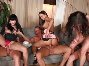 Big anal orgy with hot babes