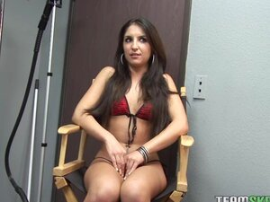 ThisGirlSucks Small tits latina teen Giselle Leon handjob blowjob