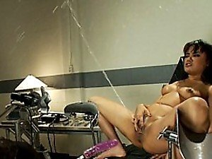 Hot Brunette Slut Fucked By Toys and Squirting