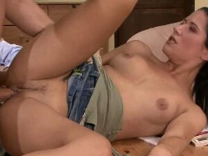 Brunette housewife banged by stranger's hard cock