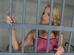 Skinny glam blonde anal sex in jail