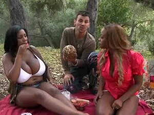 Fat girls fucked hardcore on picnic