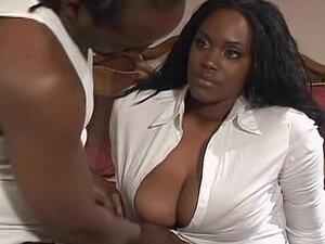 Licking ebony cunt to warm her for fucking