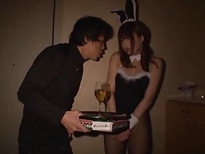 Insane Hot Sex with Japanese Bunny in Fishnet Stockings
