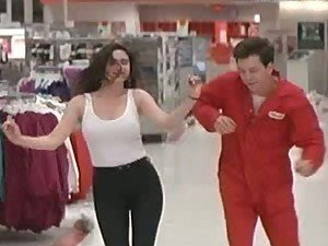 Jennifer Connelly Rollerskating In a Supermarket