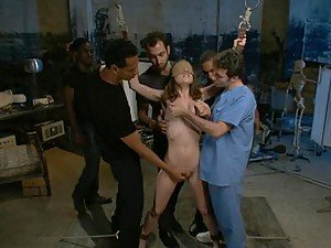 BDSM Gangbang For a Totally Helpless Chick