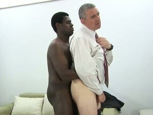 Black gay takes care of daddie's ass